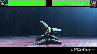 Pelea de Robots Hiro vs Yama con Barras de Salud Disney