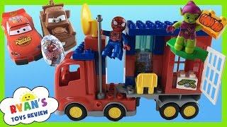 Lego Duplo Marvel Spiderman Super Heroes Spider Truck Adventure Disney Cars Toys  Egg Surprise