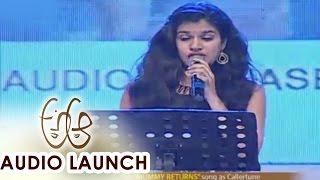 Sravana Bhargavi Live Performance at A Aa Audio Launch || Nithiin, Samantha