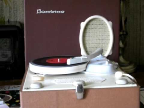 Bambino Gramofon Lampowy Tube portable record player