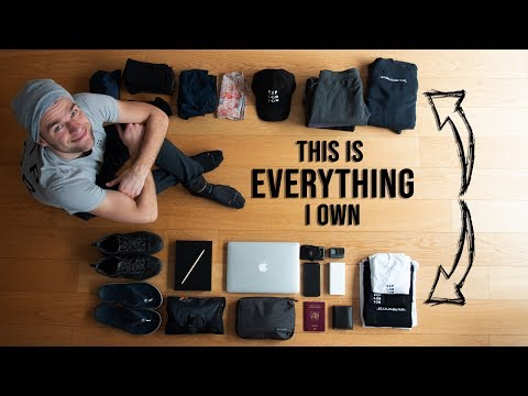 Minimalist Packing for 5 YEARS OF TRAVELING Golden Packing Rule