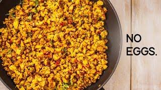 Download Eggless Bhurji Recipe - Tasty Veg Scrambled Anda Burji with No Eggs - CookingShooking