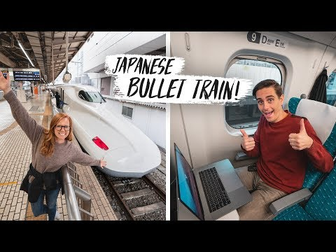 Our First JAPANESE BULLET TRAIN RIDE Shinkansen Second Class Review Tokyo to Osaka Japan