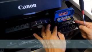 MÁY IN CANON - Hướng dẫn khóa van mực máy in PIXMA G Series để di chuyển