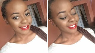 Winged Liner and Glossy Red Lips Makeup Tutorial | OmogeMuRa