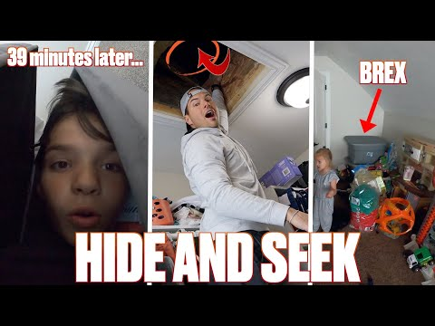 EXTREME HIDE AND SEEK STUCK INSIDE STAYING HOME LAST TO BE FOUND WINS BEST NEW HIDING SPOT