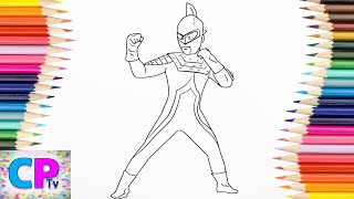 Ultraman Seven Coloring Pages for Kids, How to Color Ultraman Coloring Pages Fun for Kids