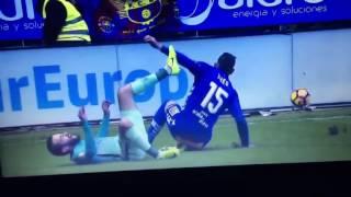 TERRIBLE || La lesión de Aleix Vidal vs Alaves (Video) 2017 Liga Santander (SUSCRIBETE)