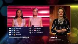 Eurovision 2015 : Vote of Armenia (HD) (1080p)
