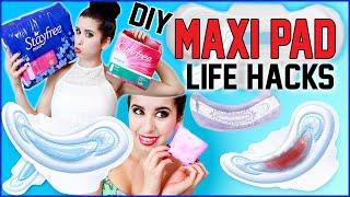 10 DIY Maxi Pad Life Hacks! | 10 NEW Ways To Use Maxi Pads! | Apply Makeup, Clean & MORE!