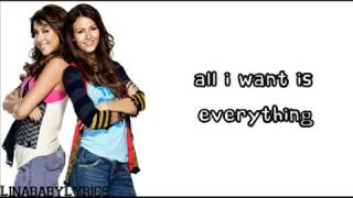 All I want is Everything Victoria Justice ft  Victorious cast Lyrics on screen   YouTube