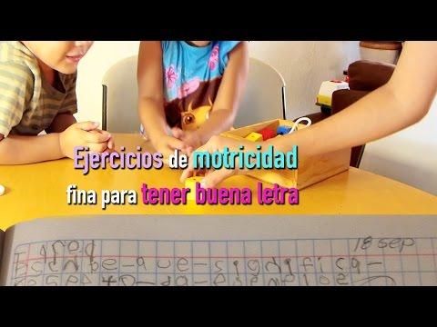 Ejercicios de motricidad fina para niños para tener buena letra Luciana Uki