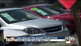 Hefty car dealership fees explained