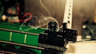 Most complete LEGO steam locomotive in the world (10194 Emerald Night)