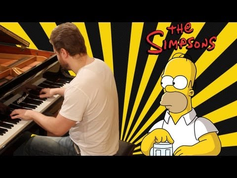 Simpsons Theme on piano The Simpsons Opening Song