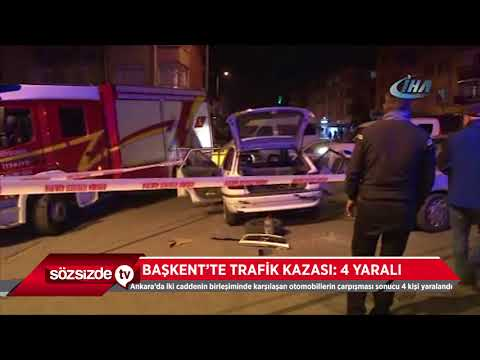 BAŞKENT'TE TRAFİK KAZASI 4 YARALI