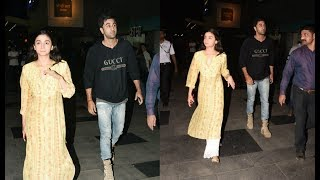 Alia Bhatt And Ranbir Kapoor Watch  Padmavati Together