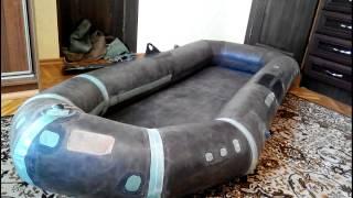 ремонт резиновой лодки швы видео