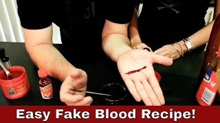 Make Cheap Fake Blood and Fake Blood Paste! - Outback Gorehouse