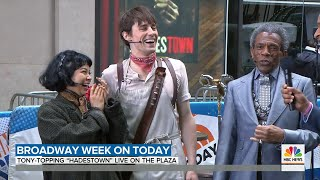 """Hadestown performs """"Livin' It Up on Top"""" on Today Show"""
