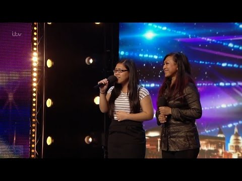 Britain's Got Talent 2016 S10E06 Ana & Fia Almanda Emotional Mother Daughter Duet Full Audition