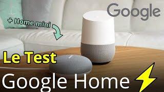 Google Home et Google Home mini le Test : Questions, Yeelight, lecture MP3, vidéo sur TV en français