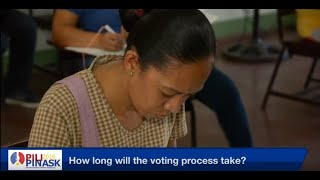 #PiliPinAsk2016 How long is the voting process?