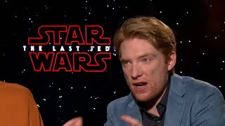 Star Wars: The Last Jedi Interview - Domhnall Gleeson, Gwendoline Christie, and Andy Serkis