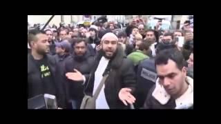 مسلم فرنسي يدافع عن الرسول عليه الصلاة والسلام