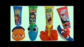FINDING DORY Bath Time Toys with Finger Paint Soap, Learn Mix Colors with Nemo, Hank, MR. RAY / TUYC