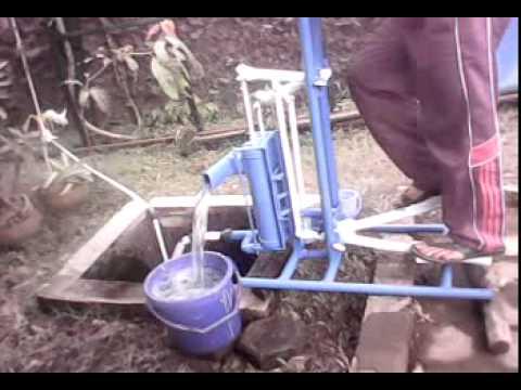 lagi test pompa air tenaga kaki tabung ganda