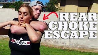 Standing Rear Naked Choke Escape w/ Tess Kielhamer