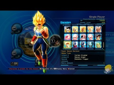 Dragon Ball Z Battle of Z All Character Models In Select Screen 【FULL HD】