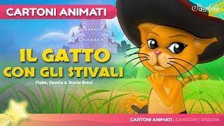 Il gatto con gli stivali storie per bambini | cartoni animati Italiano | Storie della buonanotte