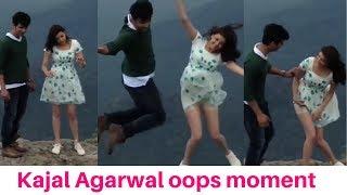 Kajal Agarwal oops moment | kajal agarwal oops moment on mountain peak | kajal Agarwal hot | Kajal