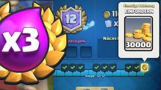 12 Siege 3×ELIXIER Challenge? | Mein bestes 3×Elixier Deck | Clash Royale deutsch
