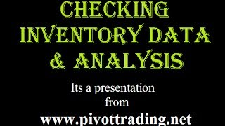 How to Check Inventory & Analyze it (in Hindi) - www.pivottrading.co.in