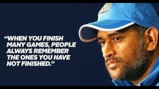 MS DHONI - IS IT THE END OF AN ERA ??