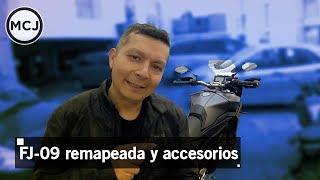 133 Yamaha FJ 09 flashed ECU y otros accesorios