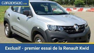 Exclusif - premier essai de la Renault Kwid, la citadine à 3 500 €