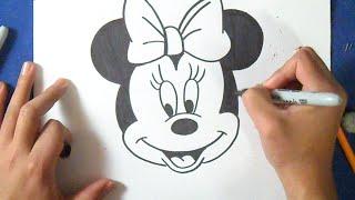 como desenhar Minnie Mouse