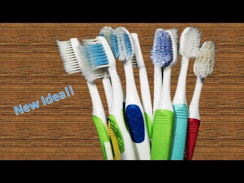 How to Reuse Old Waste Toothbrush at home Best out of waste Waste material craft