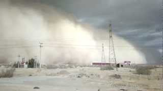 Dust Storm in Yazd Iran