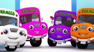 The Wheels On The Bus | Vehicle Songs | Nursery Rhymes Farmees | Kids Songs