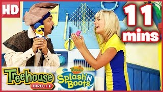 Splash'N Boots | Pirate MYSTERY Compilation! | Songs for Kids by Treehouse Direct