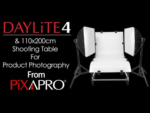 PIXAPRO Product Shoot For Medium To Large (PIXAPRO Daylite 4 Kit And PIXAPRO 110x200 Shooting Table)