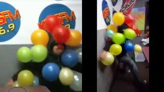 The Hacker Morning Show Attempts Balloon Popping World Record