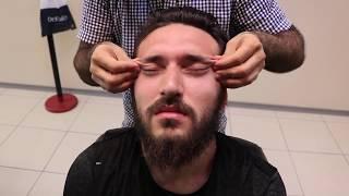ASMR Turkish Barber Head Face and Back Massage 46