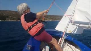 Mom dinghy sailing after 70