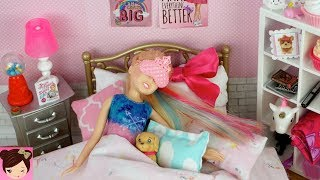 Barbie Bedroom Jojo Siwa Doll Evening Routine - Dance Class & Study Play Date with Skipper
